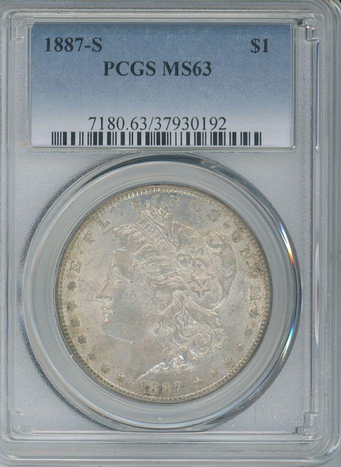 1887 S $1 PCGS MS63
