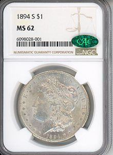 1894 S $1 NGC MS63-CAC