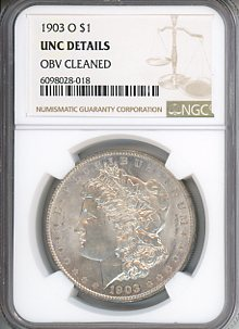 1903 O $1 NGC UNC Details-  OBV Cleaned