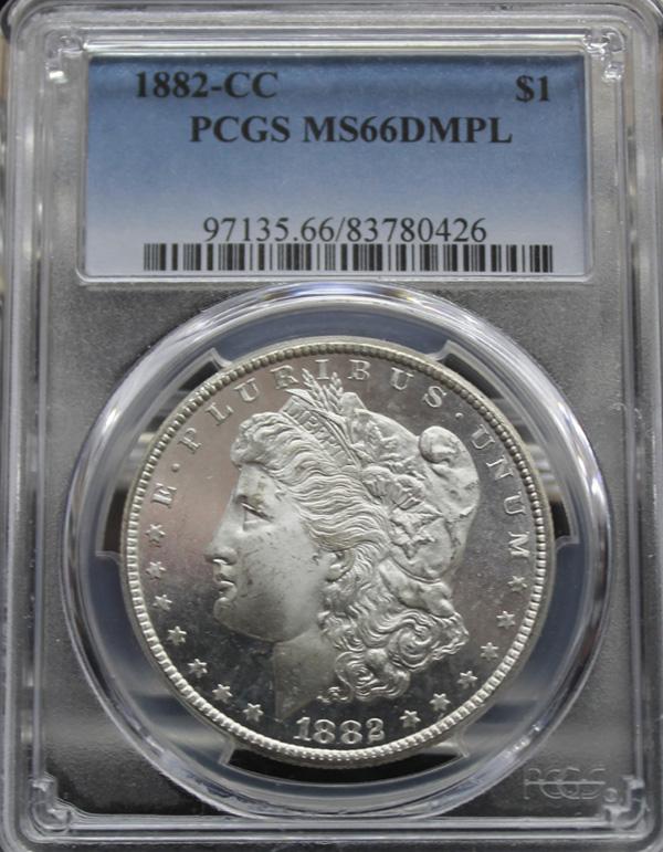 1881 CC $1 PCGS MS65