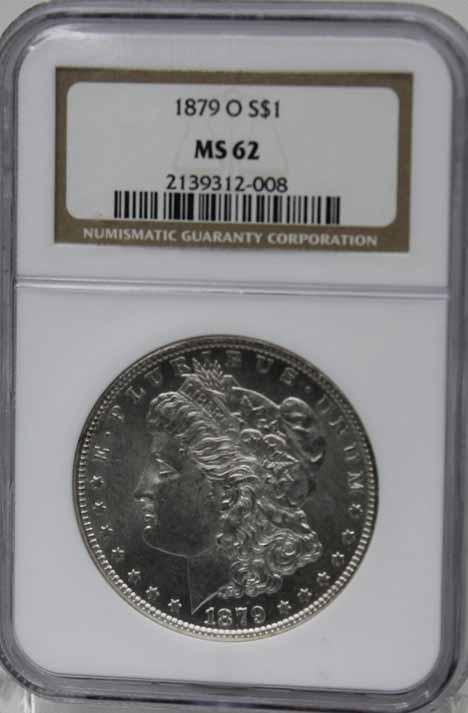 1879 O $1 NGC MS62