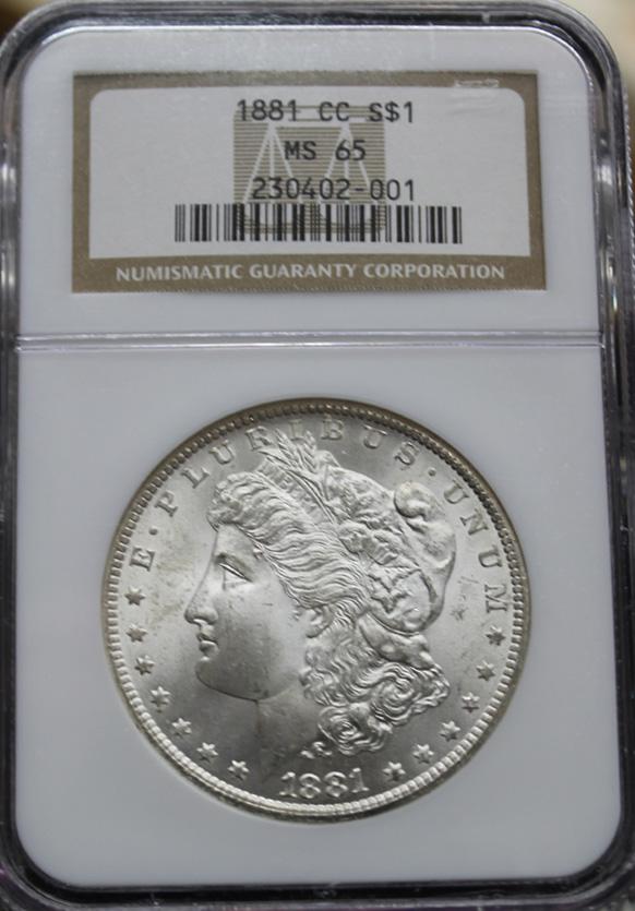 1881 CC $1 NGC MS65