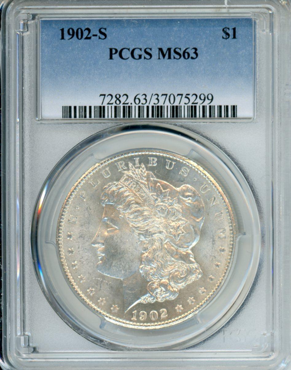 1902 S $1 PCGS MS63