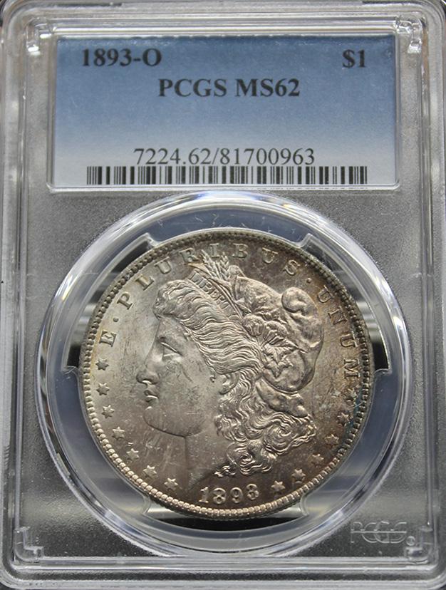 1893 O $1 PCGS MS62
