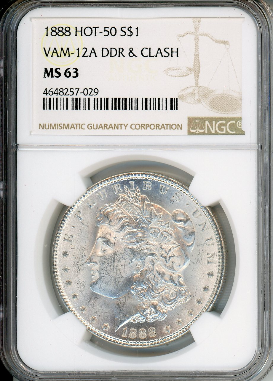 1888 $1 NGC MS63 VAM-12A DDR & Clash Hot 50