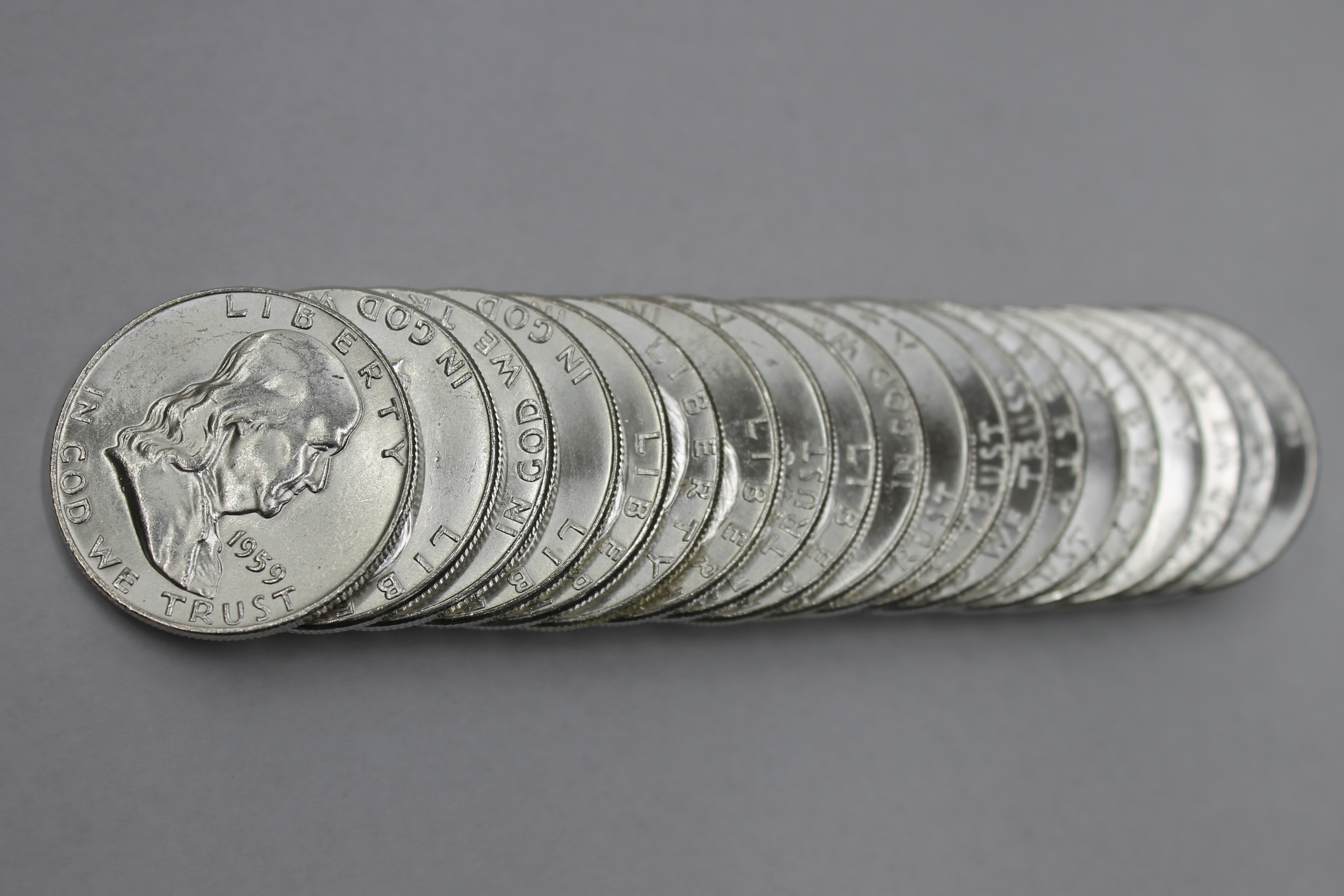 1959 P Franklin Half Dollar Roll
