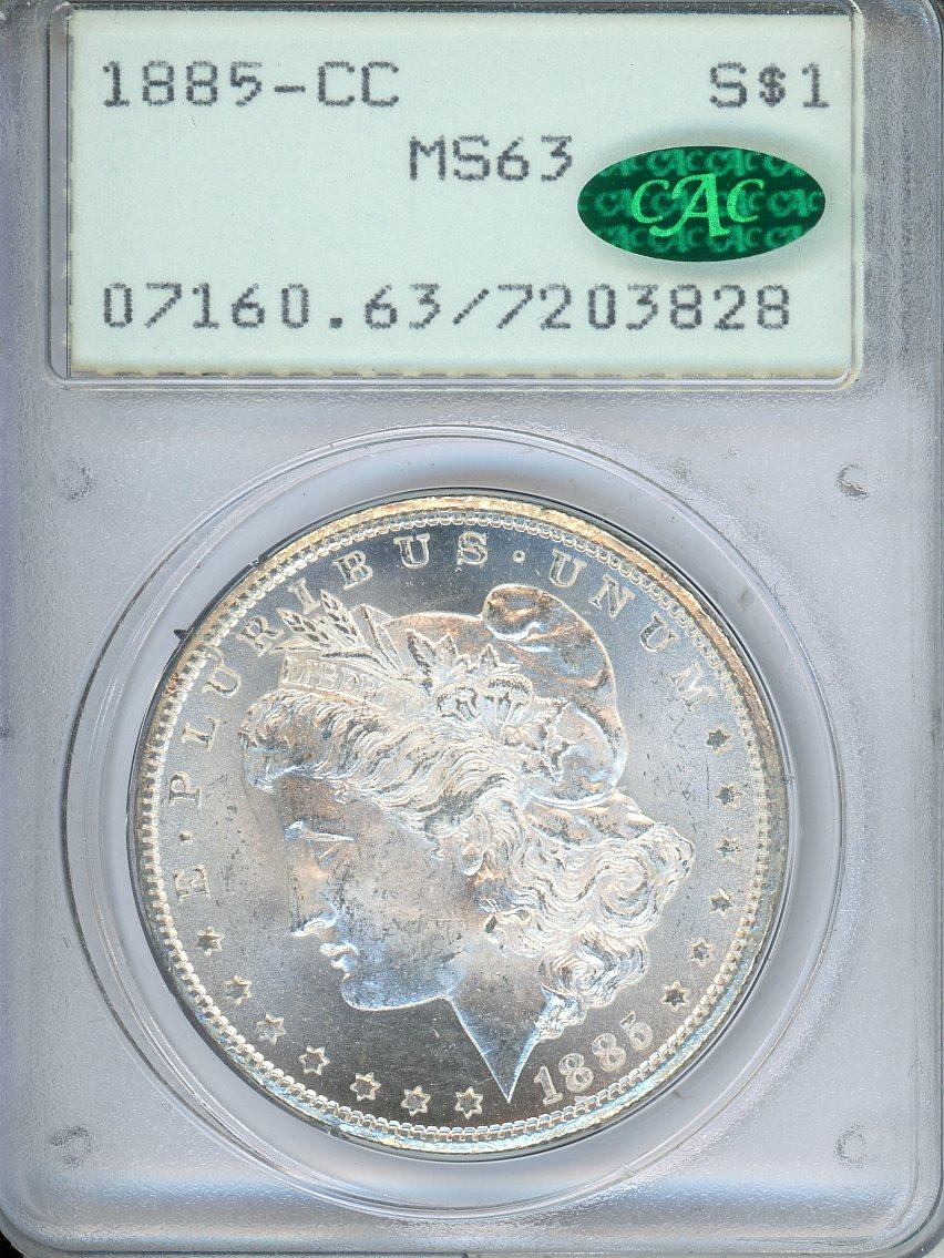 1885 CC $1 PCGS MS63 CAC
