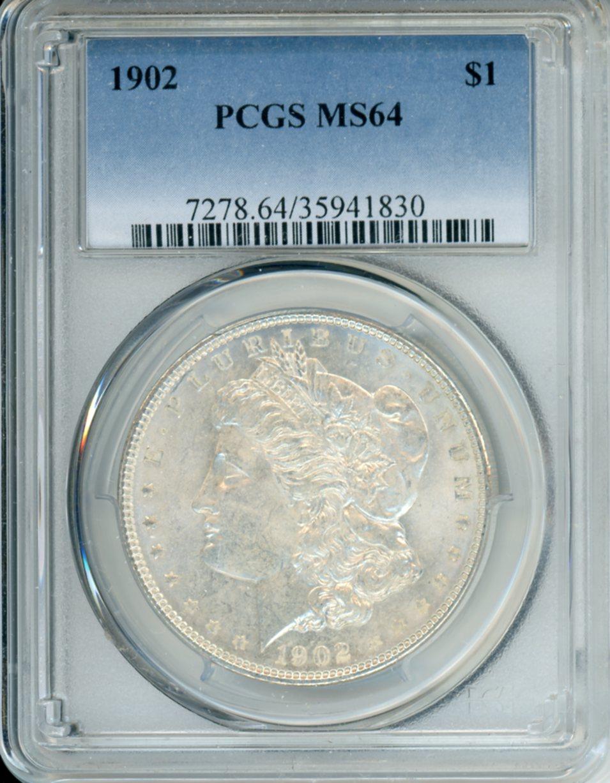 1902 $1 PCGS MS64