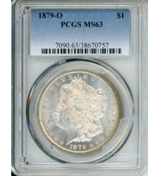 PMJ Coins Morgan Dollars 1879 O $1 PCGS MS63