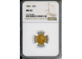 PMJ Coins & Collectibles, Inc. 1861 $1 NGC MS62