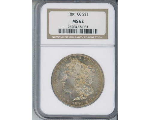 PMJ Coins & Collectibles, Inc. 1891 CC $1 NGC MS62