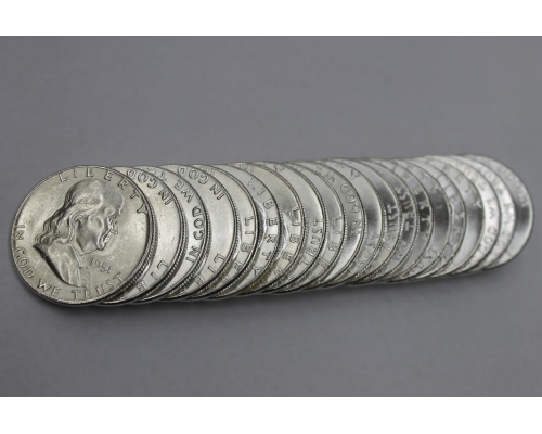 PMJ Coins 1951 S Franklin Half Dollar Roll