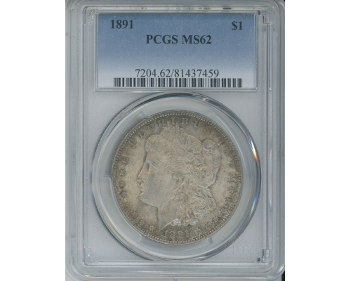 PMJ Coins & Collectibles, Inc. 1891 P $1 PCGS MS62