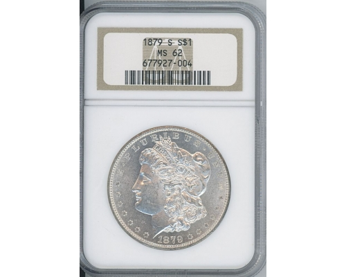PMJ Coins 1879 S $1 NGC MS62