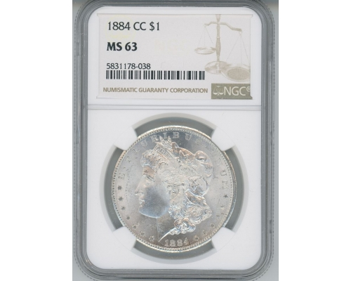 PMJ Coins & Collectibles, Inc. 1884 CC $1 NGC MS63