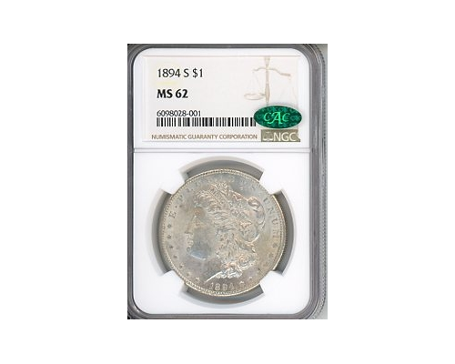 PMJ Coins & Collectibles, Inc. 1894 S $1 NGC MS63-CAC