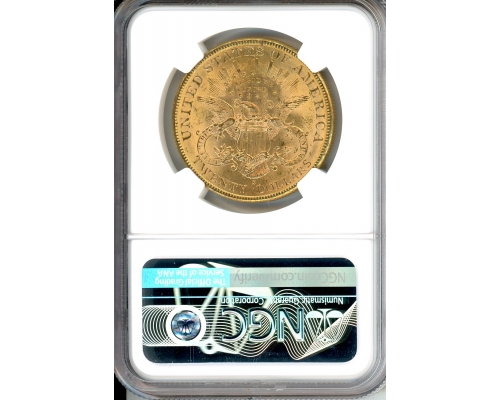 PMJ Coins & Collectibles, Inc. 1896 S $20 Gold NGC MS63 CAC