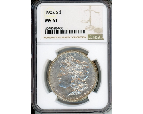 PMJ Coins & Collectibles, Inc. 1902 S $1 NGC MS61