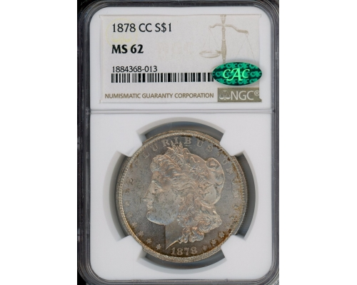 PMJ Coins & Collectibles, Inc. 1878 CC $1 NGC MS62 CAC