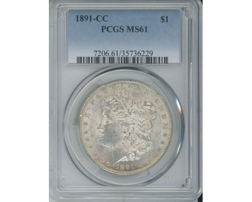 PMJ Coins & Collectibles, Inc. 1891 CC $1 PCGS MS61