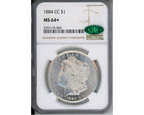 PMJ Coins & Collectibles, Inc. 1884 CC $1 NGC MS64+ CAC