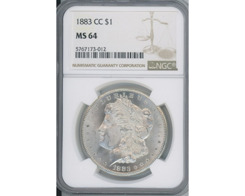 PMJ Coins 1883 CC $1 NGC MS64
