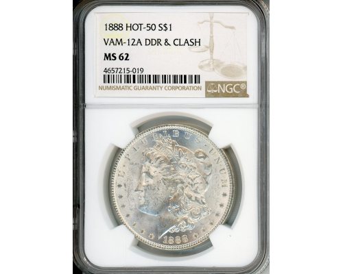 PMJ Coins & Collectibles, Inc. 1888 $1 NGC MS62 VAM-12A DDR & Clash Hot 50