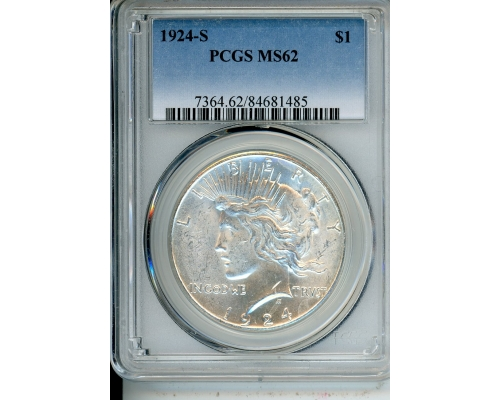 PMJ Coins & Collectibles, Inc. 1924 S $1 PCGS MS62