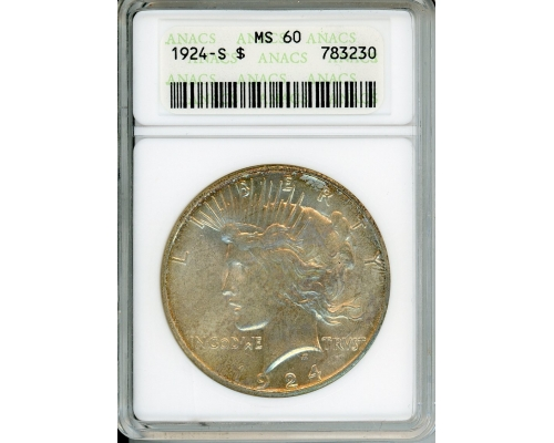 PMJ Coins & Collectibles, Inc. 1924 S $1 ANACS MS60