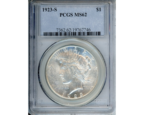 PMJ Coins & Collectibles, Inc. 1923 S $1 PCGS MS62