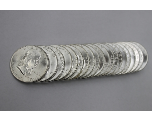 PMJ Coins 1948 P Franklin Half Dollar Roll