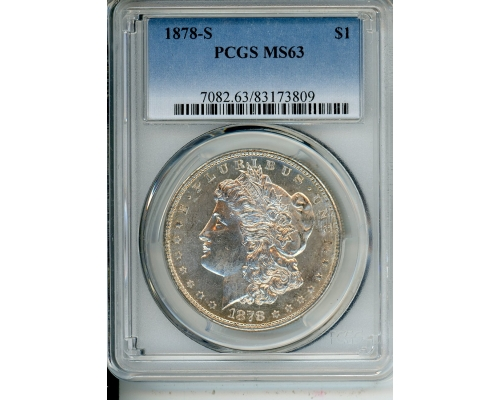 PMJ Coins & Collectibles, Inc. 1878 S $1 PCGS MS63