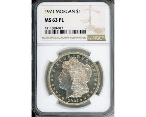 PMJ Coins 1921 $1 NGC MS63PL