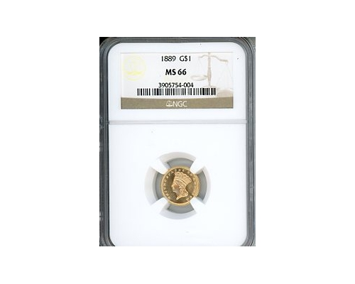 PMJ Coins & Collectibles, Inc. 1889 $1 Gold PCGS MS66