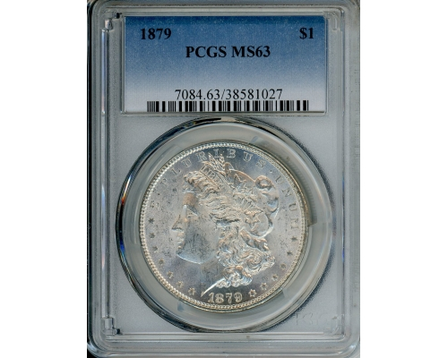 PMJ Coins 1879 $1 PCGS MS63