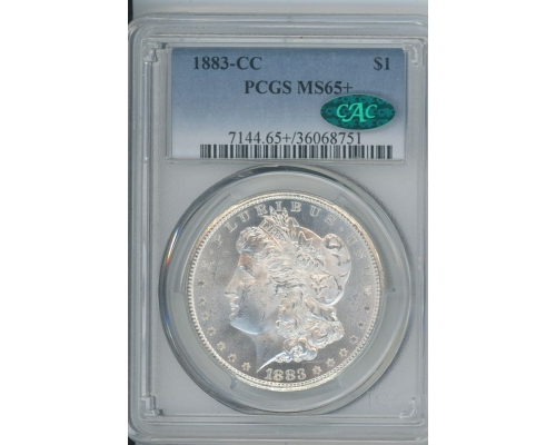 PMJ Coins & Collectibles, Inc. 1883 CC $1 PCGS MS65+ CAC