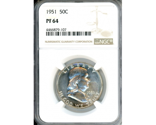 PMJ Coins & Collectibles, Inc. 1951 50C NGC PF64 Franklin Half Dollar Proof