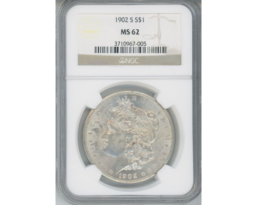 PMJ Coins & Collectibles, Inc. 1902 S $1 NGC MS62