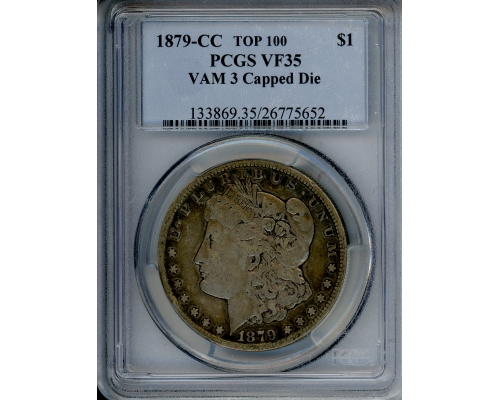PMJ Coins & Collectibles, Inc. 1879 CC $1 PCGS VF35 Capped Die