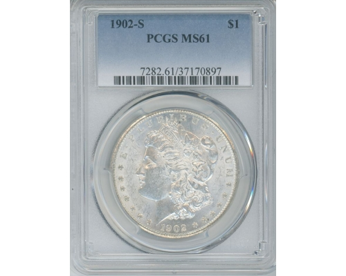 PMJ Coins & Collectibles, Inc. 1902 S $1 PCGS MS61