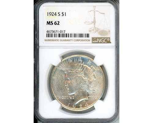 PMJ Coins & Collectibles, Inc. 1924 S $1 NGC MS62