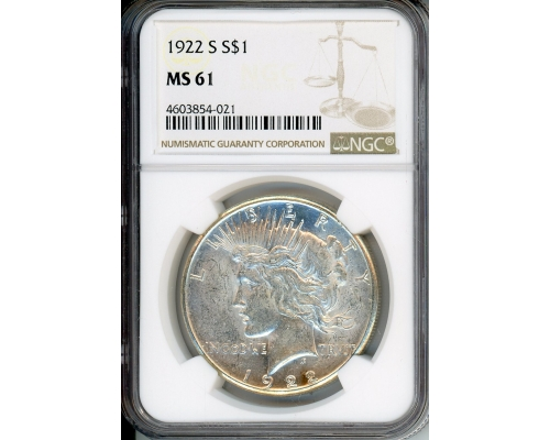 PMJ Coins & Collectibles, Inc. 1922 S $1 NGC MS61